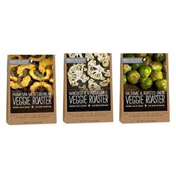 Urban Accents All Natural Gluten Free Veggie Roaster Vegetable Seasoning 3 Flavor Variety Bundle: (1) Urban Accents Balsamic & Roasted Onion Veggie Roaster, (1) Urban Accents Parmesan Mediterranean Veggie Roaster, and (1) Urban Accents Manchego &...