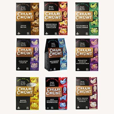 Char Crust Dry-Rub Seasoning - Kosher, CRC Parve (Flavor Variety Pack) (10 pack)