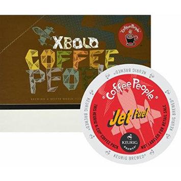 Coffee People Jet Fuel Coffee,Regular - Full/Extra Dark/Extra Bold - K-Cup - 24 / Box