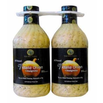 Oak Hill Farms All Natural Vidalia Onion vinaigrette, Twin Pack, 67.62-Ounce