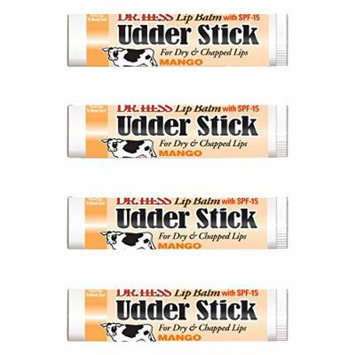 Dr Hess Udder Stick Lip Balm, Mango, 4 Count