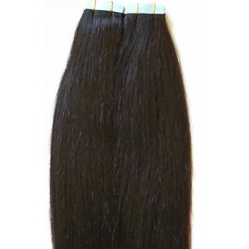18 inches 100grs,40pcs, 100% Human Tape In Hair Extensions #1B OFF Black