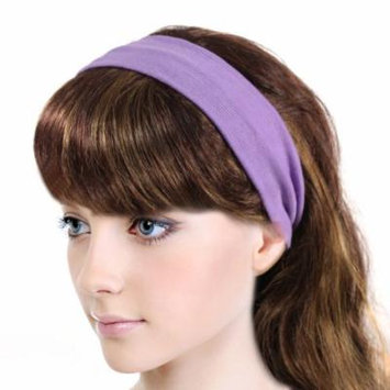 Simple Solid Color Stretch Headband - Purple (1 Pc)