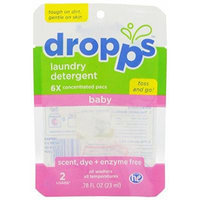 Dropps Baby Laundry Detergent Pacs, Scent Dye & Enzyme Free