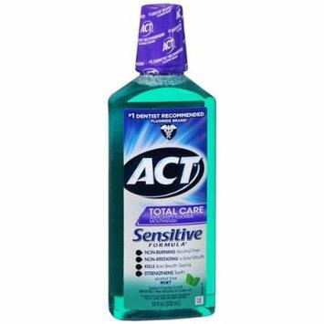 ACT Sensitive Care Anticavity Fluoride Rinse, Mint 18 fl oz (532 ml) Pack of 4