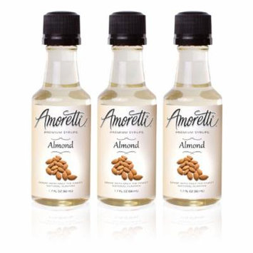Amoretti Premium Almond Syrups 50ml 3 Pack
