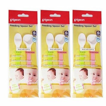 PIGEON Baby Feeding Spoon Set Soft Tip Spoons Food and Soup Spoon x 3 Packs
