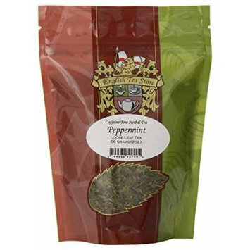 English Tea Store Loose Leaf, Peppermint Caffeine Free Herbal Tea Pouches, 2 Ounce