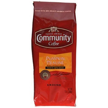 Community Coffee Premium Ground Coffee, Pumpkin Praline, 12 Ounce