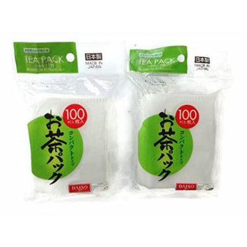 Disposable Loose Tea Filter Bag, 3.7x2.8inch 100 Pieces (Pack of 2)