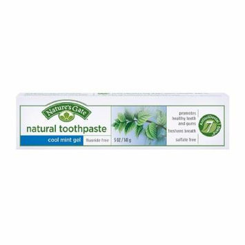 Nature's Gate Natural Fluoride FreeToothpaste, Cool Mint Gel 5 oz