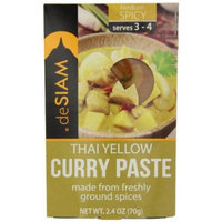 deSIAM Curry Paste, Thai Yellow, 2.4 Ounce (Pack of 6)
