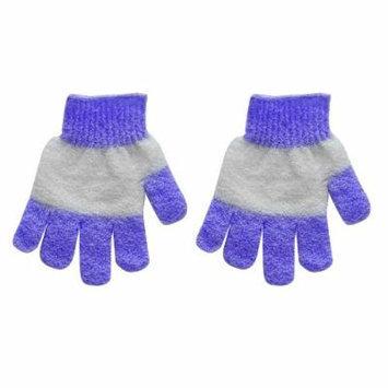 Evriholder EV-TCH-PP EvriTouch Exfoliating Gloves, Set of 2, Purple
