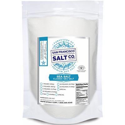 Pacific Ocean Gourmet Sea Salt, pure and natural sea salt Kosher Certified (Fine Grain 20lbs)
