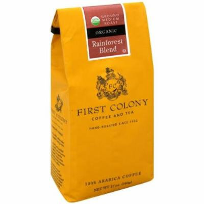 FIRST COLONY COFFEE GRND RAINFOREST BLEND, 12 OZ