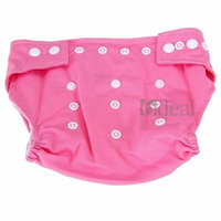 Cloth Reusable Baby Infant Diaper Urine Pants Waterproof Cover Nappy Pink
