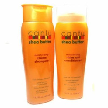 Cantu Moisturizing Cream Shampoo & Moisturizing Rinse Out Conditioner
