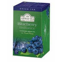 Blueberry Brilliance Flavoured Green Ahmad Tea - 20 Foil Bags