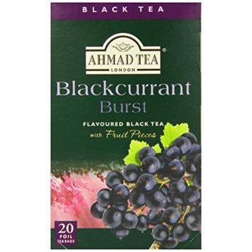 Ahmad Tea Black Tea, Blackcurrant Burst, 20 Ounce (Pack of 6)