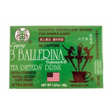 3 Ballerina Tea Dieters Drink (Extra Strength/12-ct) - 1.27oz (Pack of 3)