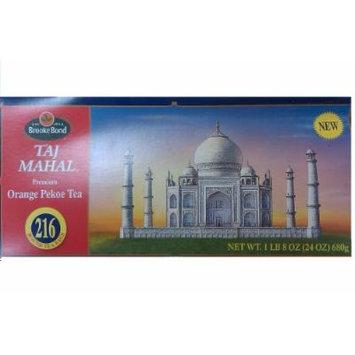 Brooke Bond Taj Mahal Premium Orange Pekoe Black Tea - 216 Round Tea Bags