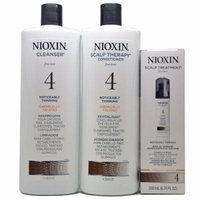 Nioxin System 4 Cleanser & Scalp Therapy Liter Duo w/ Scalp Treatment 200 Ml Set