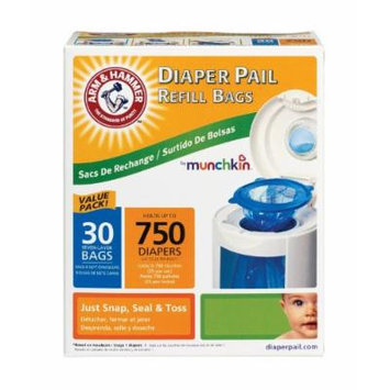 Munchkin New Super Size Package Arm & Hammer Diaper Pail Refill Bags -90 Bags