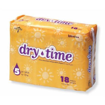 Dry Time Baby Diapers Size 5; 30-38 Lbs (144 Pieces)