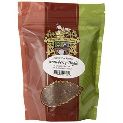English Tea Store Loose Leaf, Strawberry Tingle Rooibos Tea Pouches, 4 Ounce