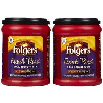 Folgers French Roast Ground Coffee - 10.3 oz - 2 pk