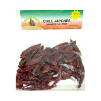 Japanese Red Dried Chile Pepper by El Sol de Mexico 2 oz