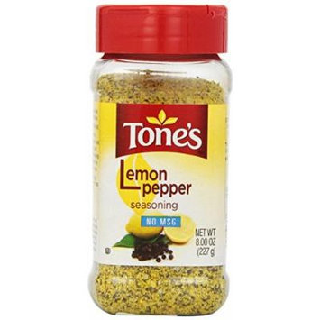 Tone's Seasoning, Lemon Pepper, 8 Ounce (Pack of 3)