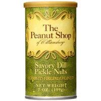 The Peanut Shop of Williamsburg Peanut Tin, Savory Dill Pickle Seasoned, 7 Ounce