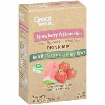 Great Value Strawberry Watermelon Drink Mix 7 Packets (Pack of 2)