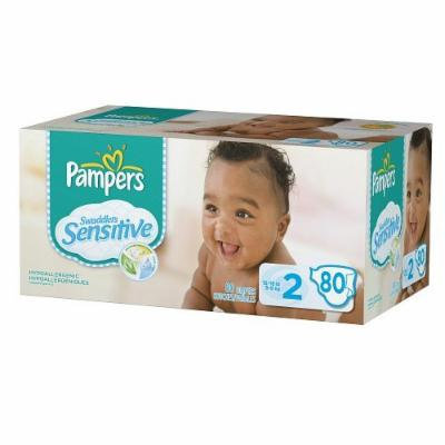 Pampers Swaddlers Sensitive Diapers, Super Pack (2-80 ea)