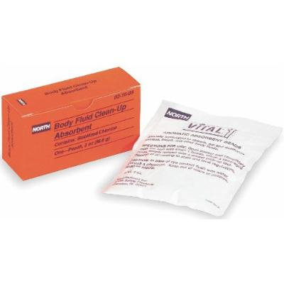North by Honeywell 021605 Body Fluid Clean-up Absorbent, 2 Ounce, 1 pouch per unit **