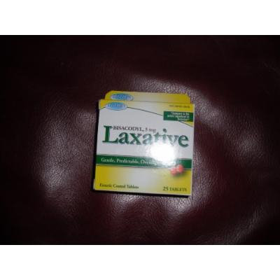 BISACODYL, 5 mg Laxative, 25 tablets Blister Pack