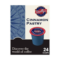 Timothy's World Coffee CINNAMON PASTRY & GERMAN CHOCOLATE CAKE Flavored Variety Pack 48 K-Cups for Keurig Brewers