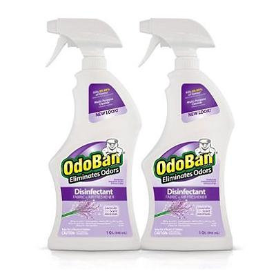 OdoBan Odor Eliminator and Disinfectant Ready-to-Use, Lavender Scent (32 Ounces, 4 Pack)