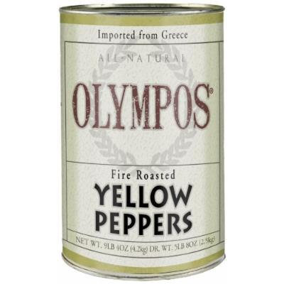 Olympos Fire Roasted Yellow Peppers, Sweet Florina Variety, 9lb 4 oz Can
