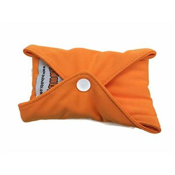 4 BubuBibi Maxi Night Bamboo Mama Cloths Menstrual Reusable Sanitary Liner Pads (Orange)