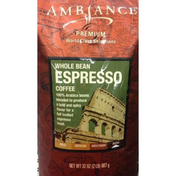 32oz Ambiance Premium World Class Selections Whole Bean Coffee ESPRESSO (2 Pounds Total)