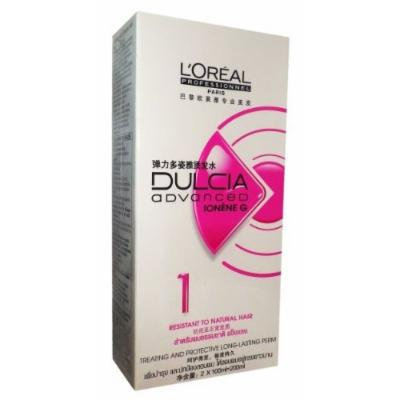 L'Oréal Paris Dulcia Ducia Advanced Ionene Permanent Perm Long Lasting Curl No.1 Resistant to Natural Hair