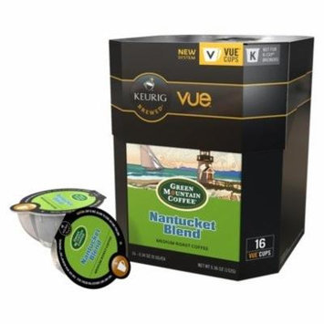 96 Count, Green Mountain Nantucket Blend Fair Trade Select Coffee VUE Packs For Keurig Vue Brewers (6 - 16 ct VUE Pack)