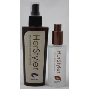 Herstyler Set (Herstyler Argan Oil Hair Serum + Herstyler Styling Spray)
