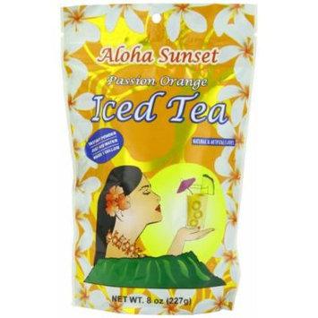 Aloha Sunset Tea Aloha Sunset Passion Orange Iced Tea , 8-Ounce Bags (Pack of 6)
