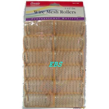 wire mesh rollers wire mesh hair roller, light orange
