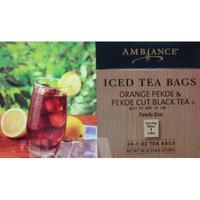 24 Gallon Size Ambiance Orange Pekoe & Pekoe Cut Black Iced Tea Bags (1 Box per order) Family Size
