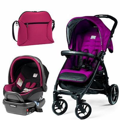 Peg Perego Booklet w Primo Viaggio 4/35 Infant Car Seat & Borsa Soft Diaper Bag (Fleur)