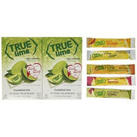 True Lime 32ct (2 pack). Plus Mini-Variety Pack of True Lemon Lemonade, Peach, Raspberry, Black Cherry, and Orange Mango. Natural Flavored Water Enhancer, Great beverage option for Paleo Diet, Adkin's Diet, and other healthly diet programs.